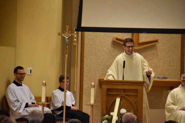 Deacon Matt Himes' first Mass